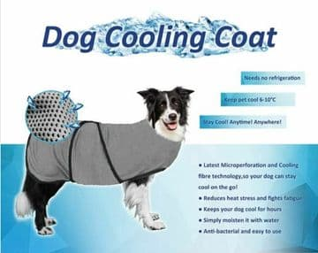 DOG COOLING COAT - SUMMER COOL VEST- very small XS to XL -10 Sizes